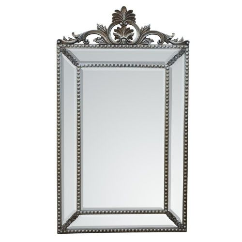 Antique Style Silver Pincushion Decorative Mirror